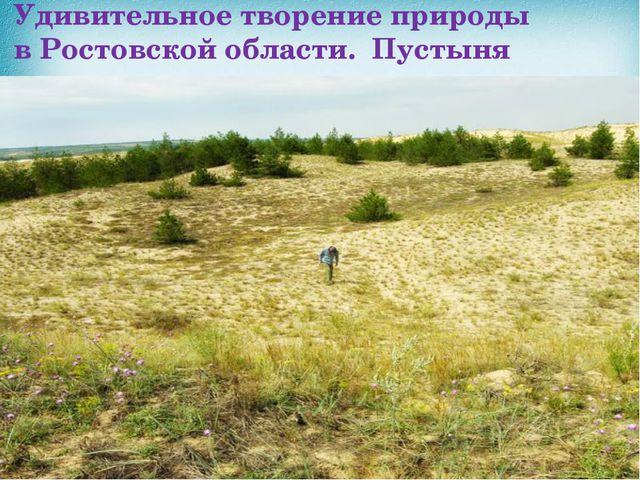 Удивительное творение природы вРостовскойобласти. Пустыня