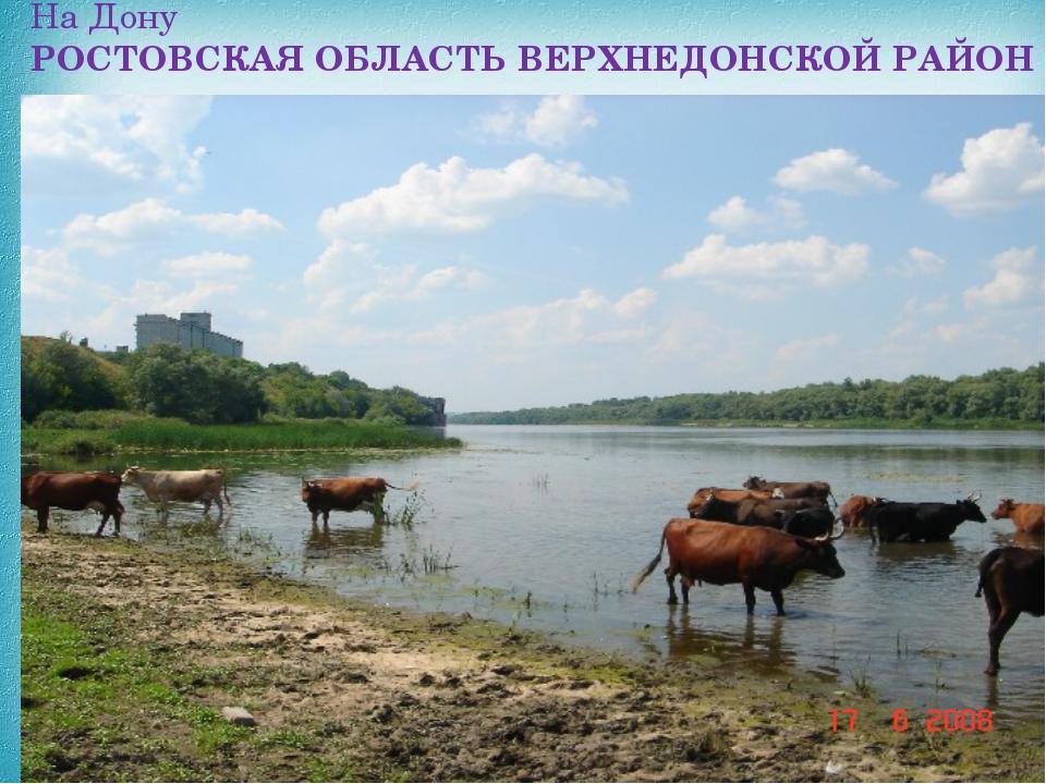 На Дону РОСТОВСКАЯОБЛАСТЬВЕРХНЕДОНСКОЙРАЙОН