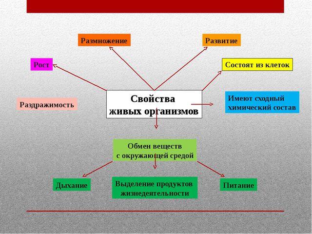 Свойства живых организмов Состоят из клеток Имеют сходный химический состав О...
