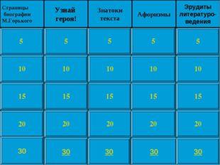 10 15 20 5 10 15 20 5 10 15 20 5 10 15 20 5 10 15 20 5 Страницы биографии М.Г