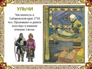 Численность в Хабаровском крае 2718 чел. Проживают в девяти поселках в нижнем