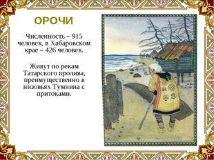 Численность – 915 человек, в Хабаровском крае – 426 человек. Живут по рекам Т