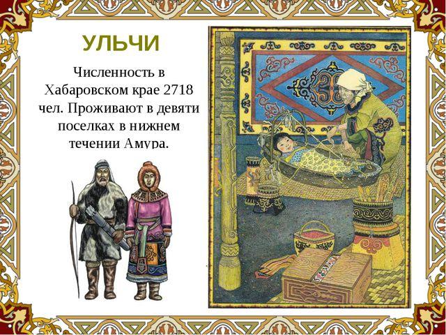 Численность в Хабаровском крае 2718 чел. Проживают в девяти поселках в нижнем...