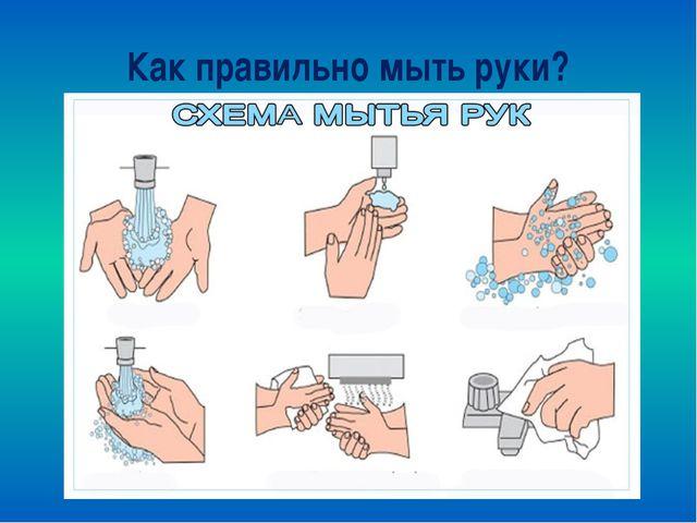 Как правильно мыть руки?