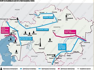 Газопроводы (100% газа, 6000 км) Мубарак – Шымкент – Тараз – Бишкек – Алматы