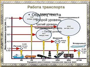 Работа транспорта
