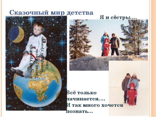 Сказочный мир детства Я и сёстры…. Всё только начинается…. И так много хочетс...