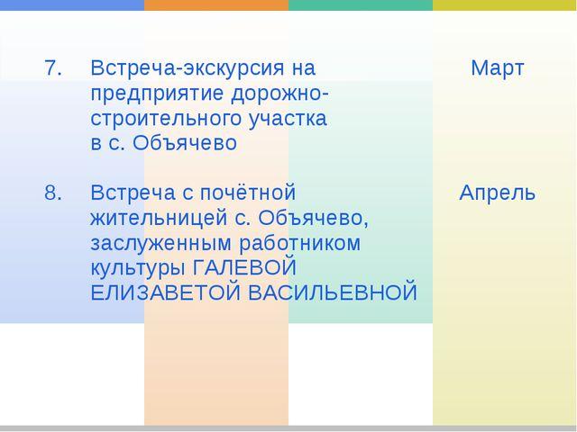 7. 8. Встреча-экскурсия на предприятие дорожно-строительного участка в с. О...