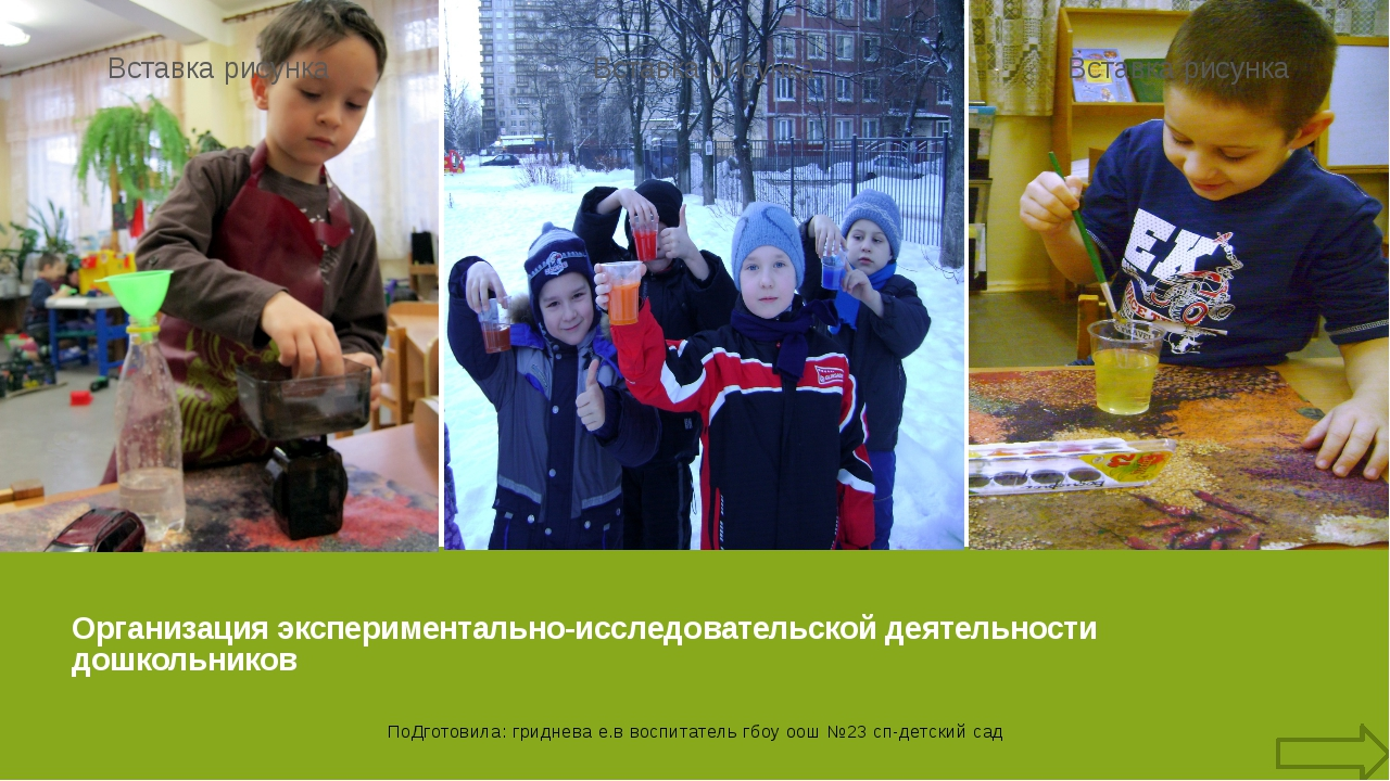 виды детского экспериментирования (по Н.Н. Поддьякову) Бескорыстное экспериме...
