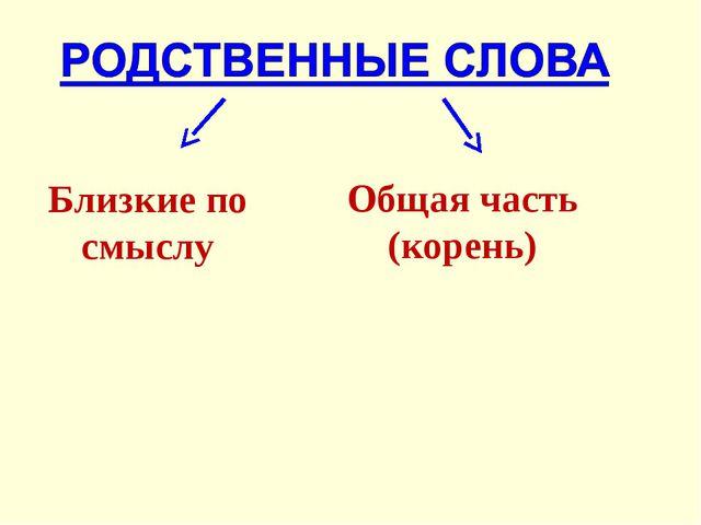 Близкие по смыслу Общая часть (корень)