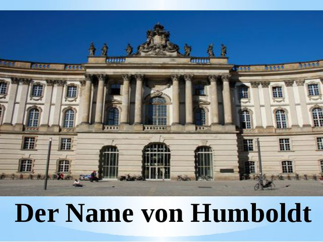Der Name von Humboldt