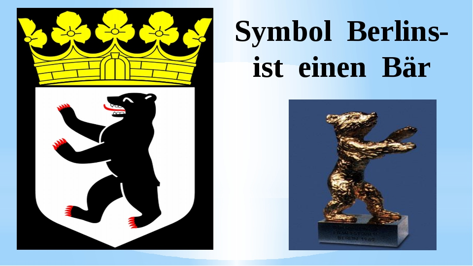 Symbol Berlins- ist einen Bär
