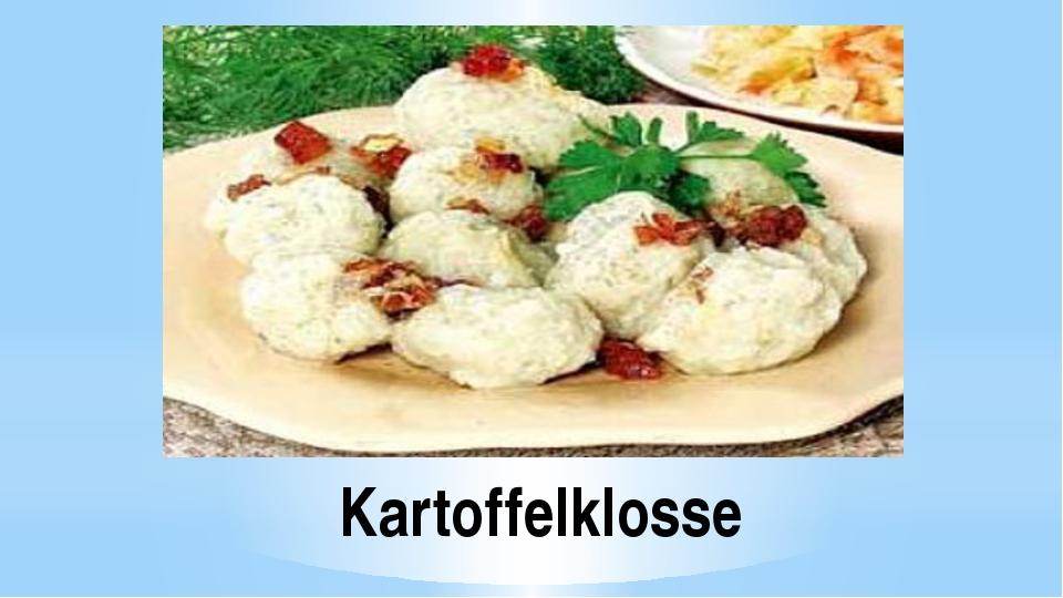 Kartoffelklosse
