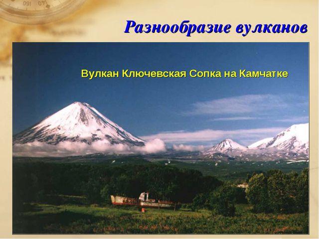 Разнообразие вулканов Вулкан Ключевская Сопка на Камчатке