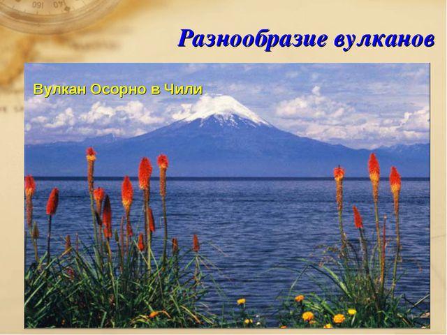 Разнообразие вулканов Вулкан Осорно в Чили