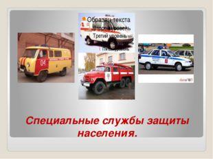 Cпециальные службы защиты населения.