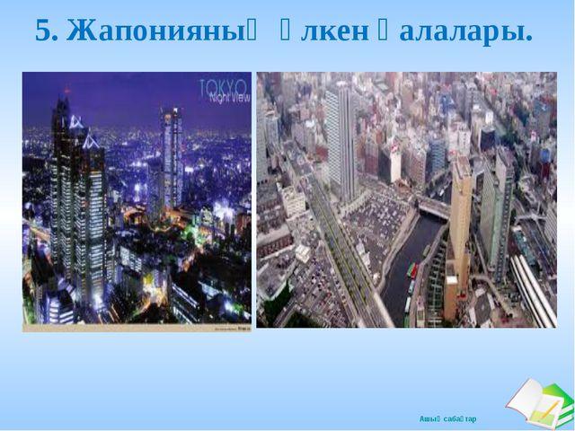 5. Жапонияның үлкен қалалары. Ашық сабақтар