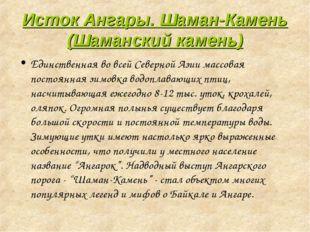 Исток Ангары. Шаман-Камень (Шаманский камень) Единственная во всей Северной А