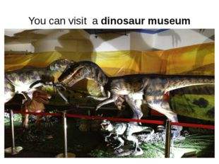 You can visit a dinosaur museum