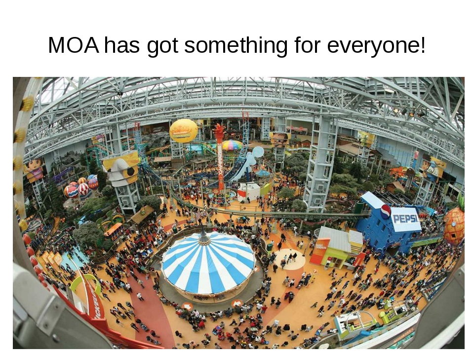 MOA has got something for everyone!