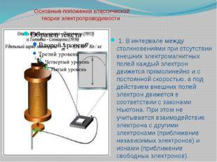 Основные положения классической теории электропроводимости 1. В интервале ме