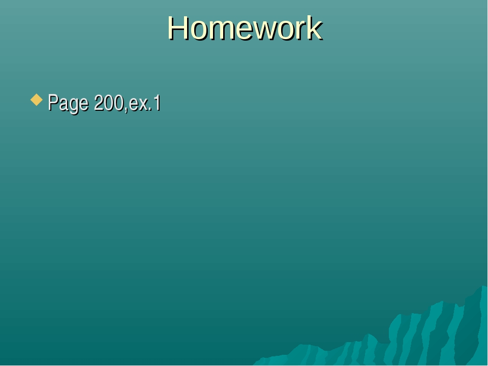 Homework Page 200,ex.1