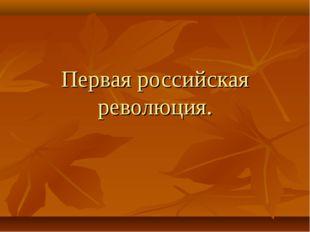 Первая российская революция.