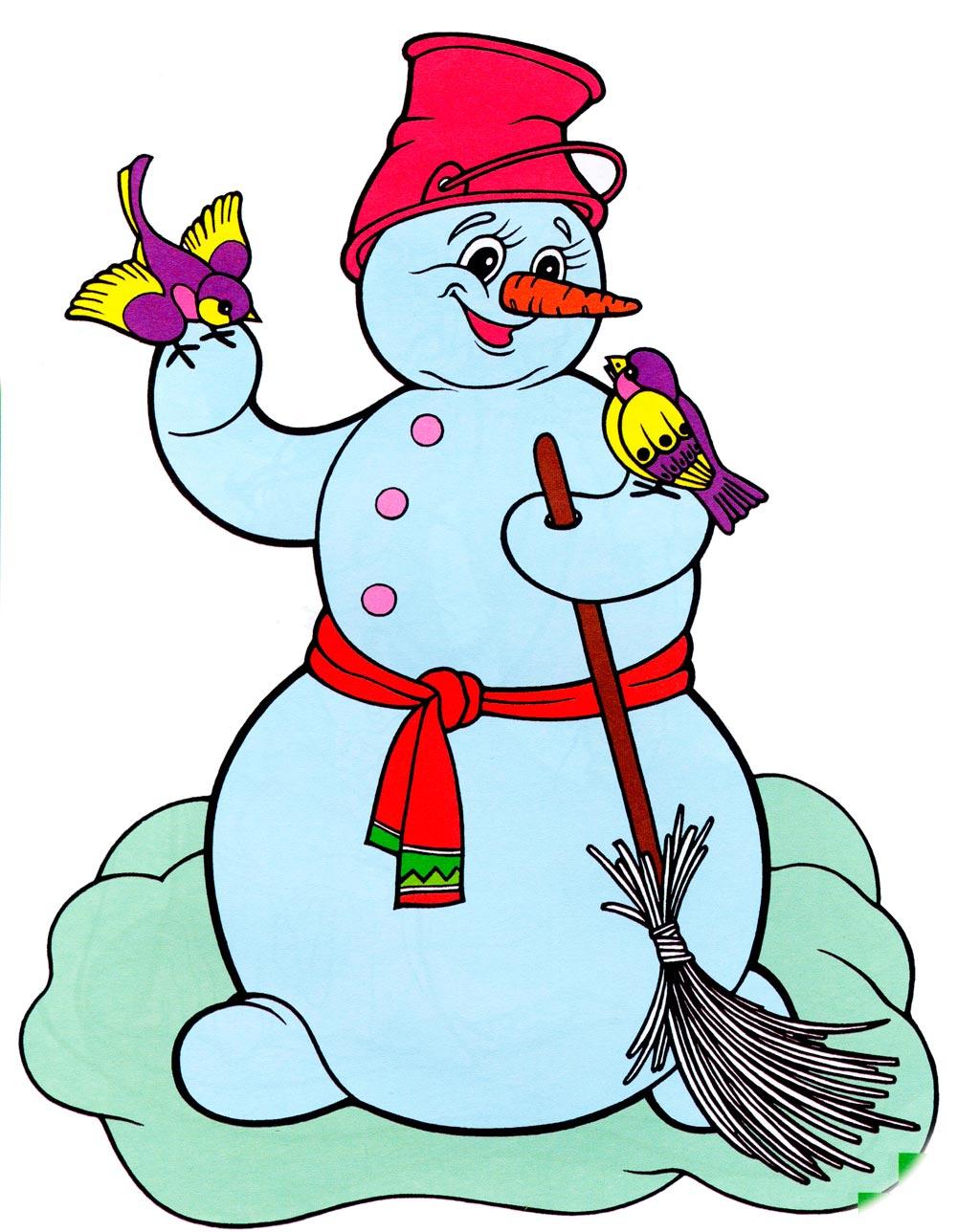 рисунки и картинки снеговиков посчитал