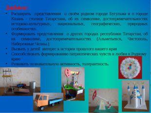 Задачи: Расширить представления о своём родном городе Бугульма и о городе Каз