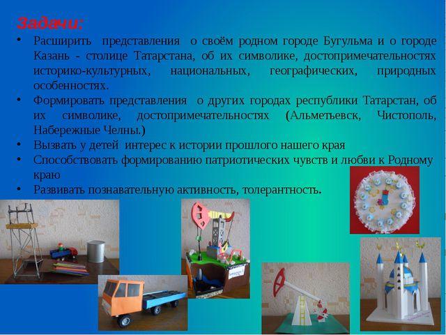 Задачи: Расширить представления о своём родном городе Бугульма и о городе Каз...