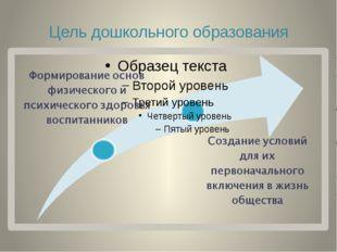 Цель дошкольного образования