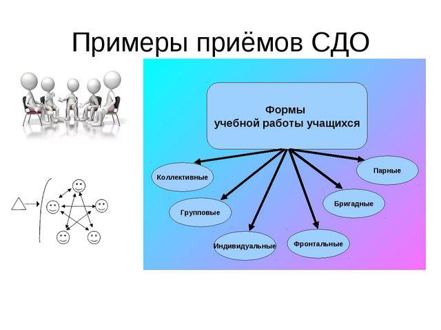 Примеры приёмов СДО