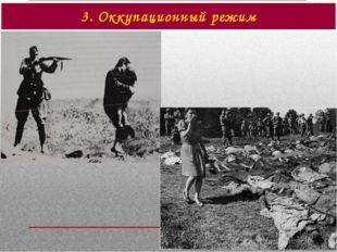 3. Оккупационный режим