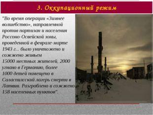 """3. Оккупационный режим """"Во время операции «Зимнее волшебство», направленной п"""