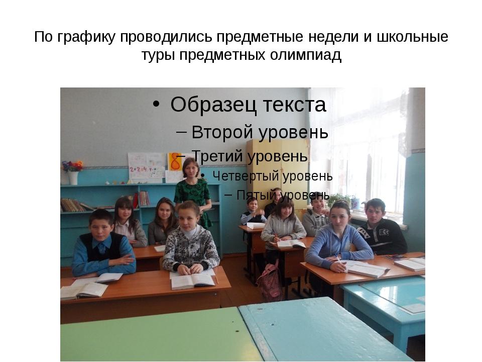 По графику проводились предметные недели и школьные туры предметных олимпиад