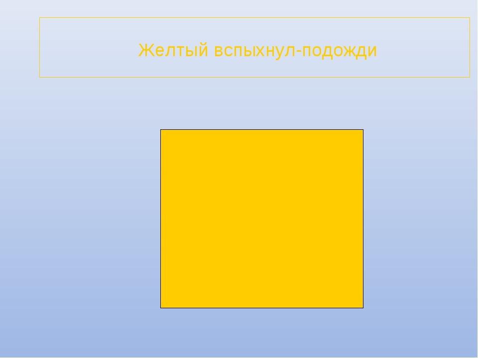 Желтый вспыхнул-подожди