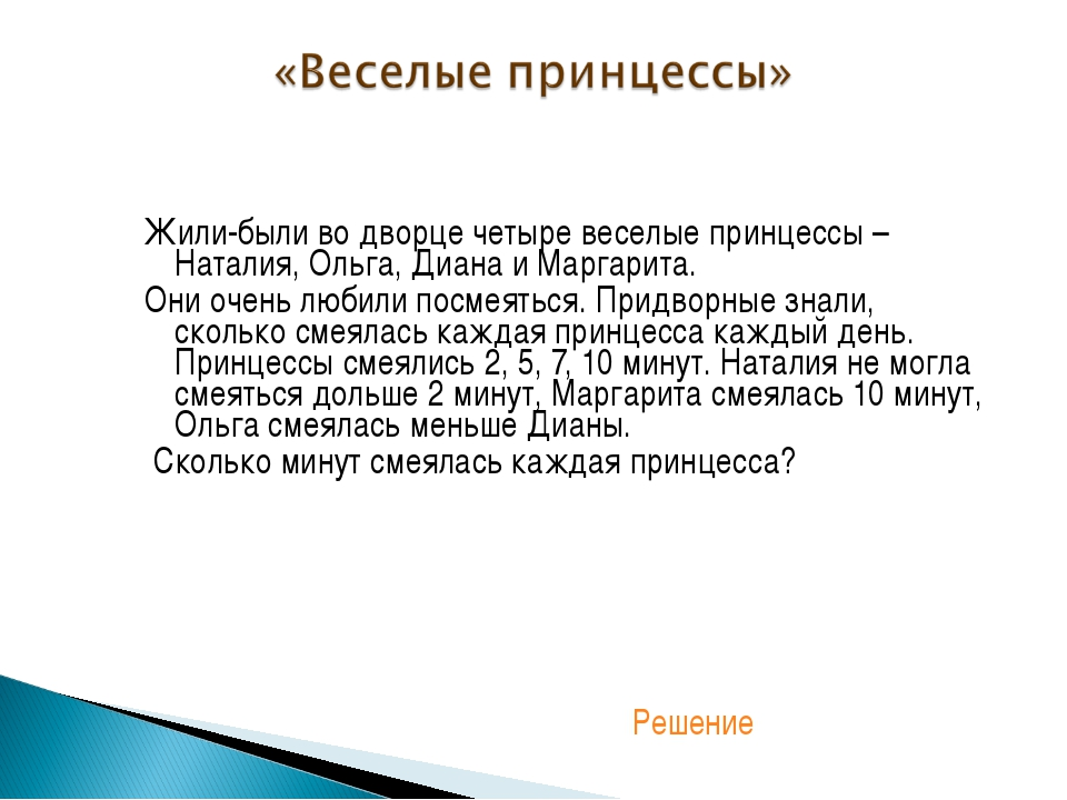 Жили-были во дворце четыре веселые принцессы – Наталия, Ольга, Диана и Маргар...