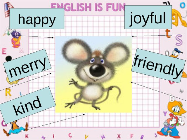 happy joyful merry friendly kind