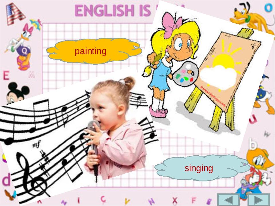 painting singing