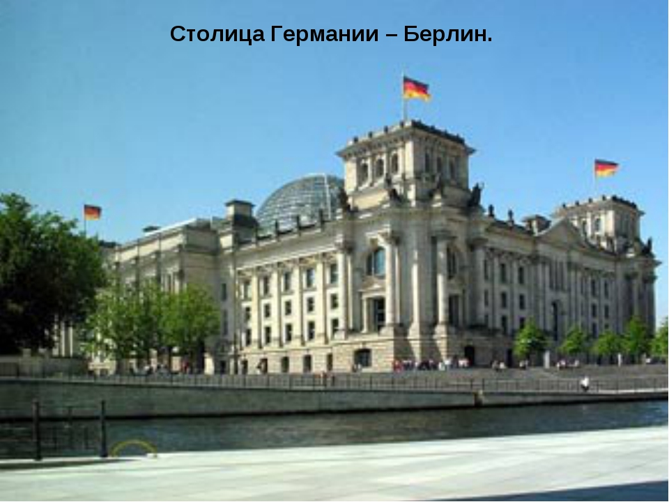 Столица Германии – Берлин.