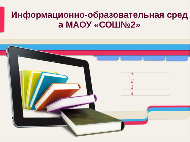 Информационно-образовательная среда МАОУ «СОШ№2»