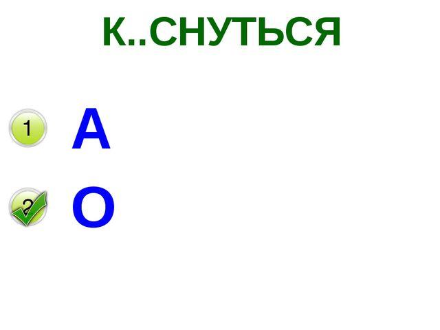 К..СНУТЬСЯ А О