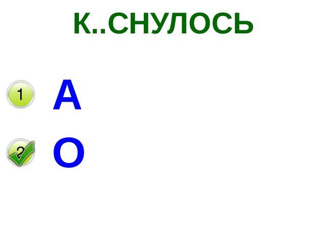 К..СНУЛОСЬ А О
