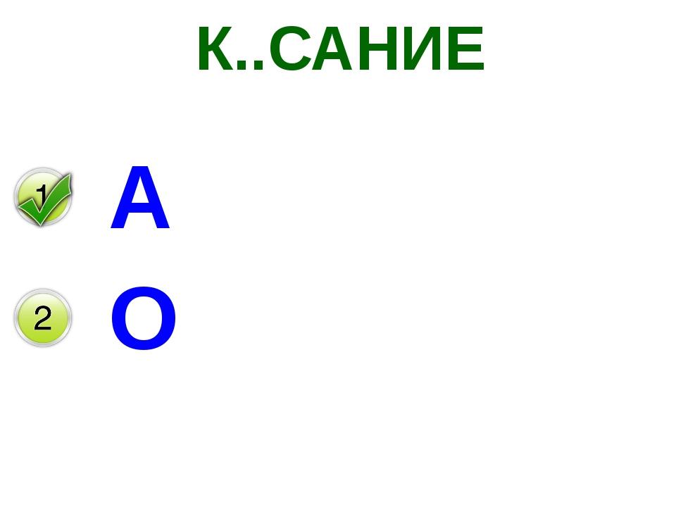 К..САНИЕ А О