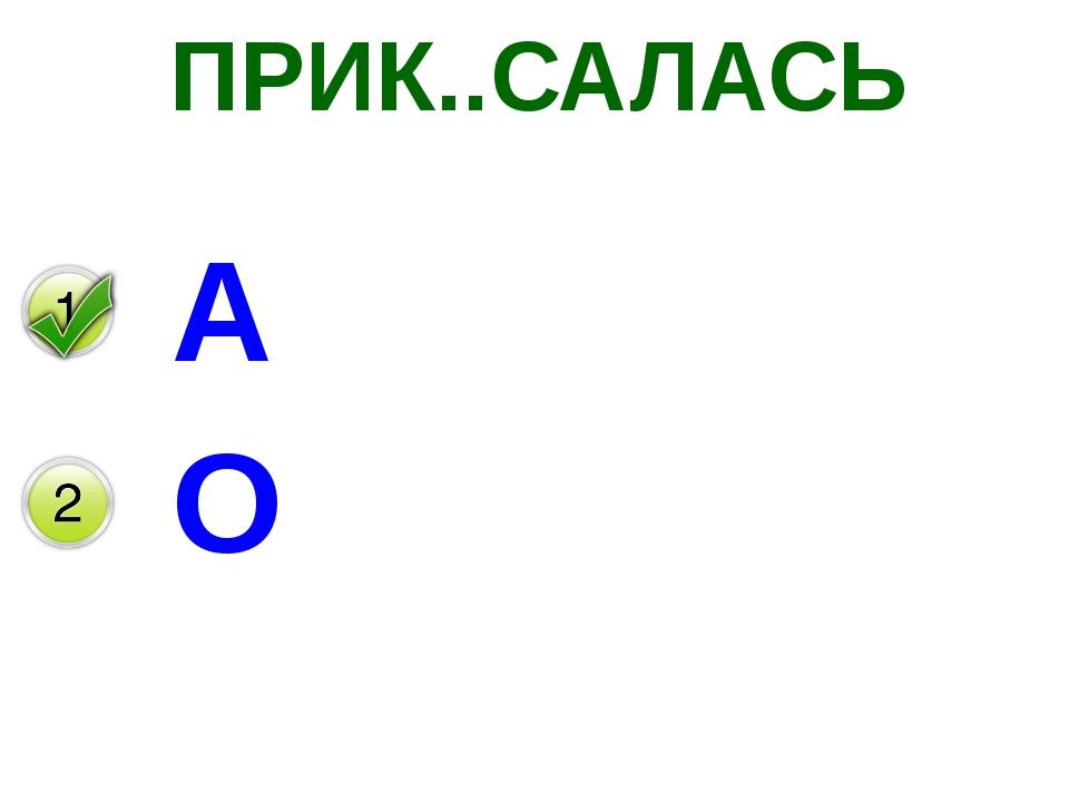 ПРИК..САЛАСЬ А О