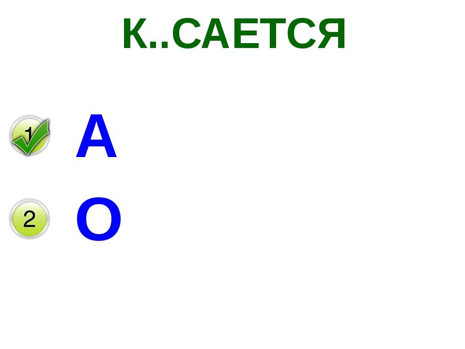 К..САЕТСЯ А О
