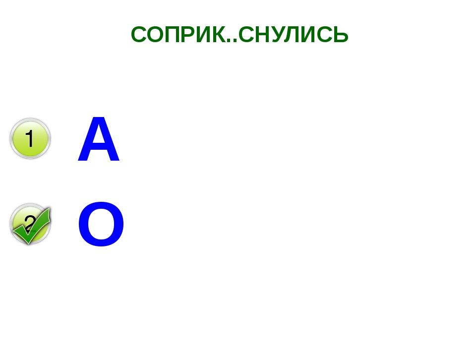 СОПРИК..СНУЛИСЬ А О