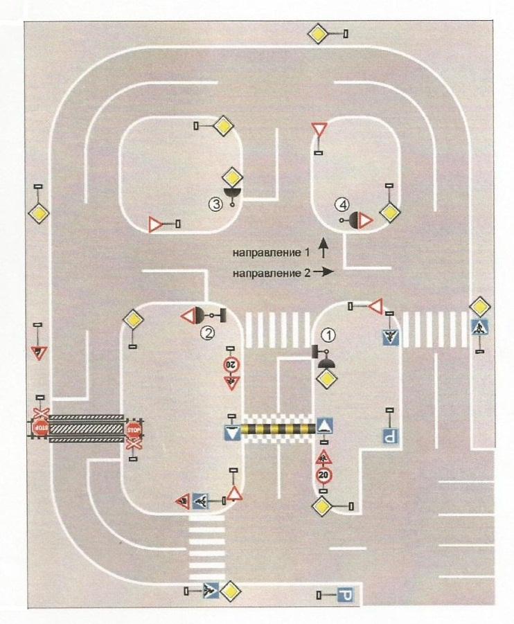 Схема автогородка