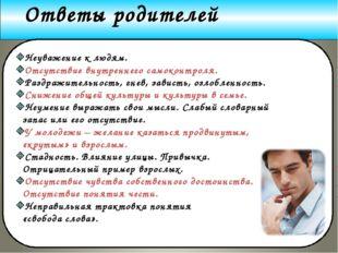 www.themegallery.com Company Logo Ответы родителей Неуважение к людям. Отсутс