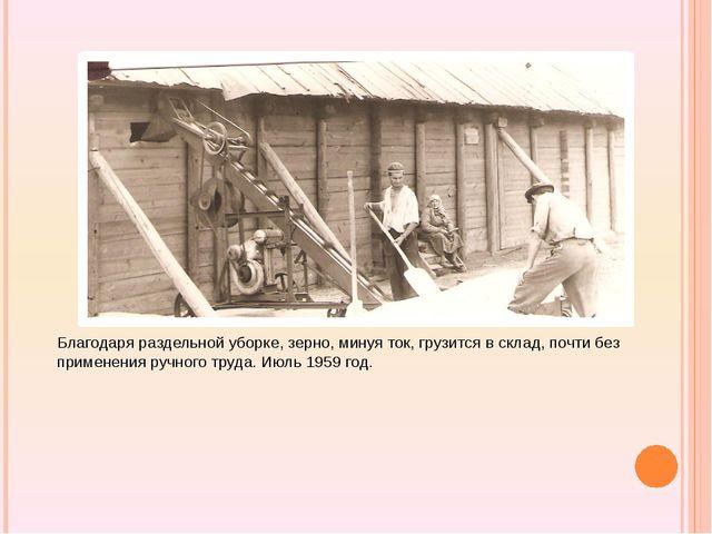Благодаря раздельной уборке, зерно, минуя ток, грузится в склад, почти без п...